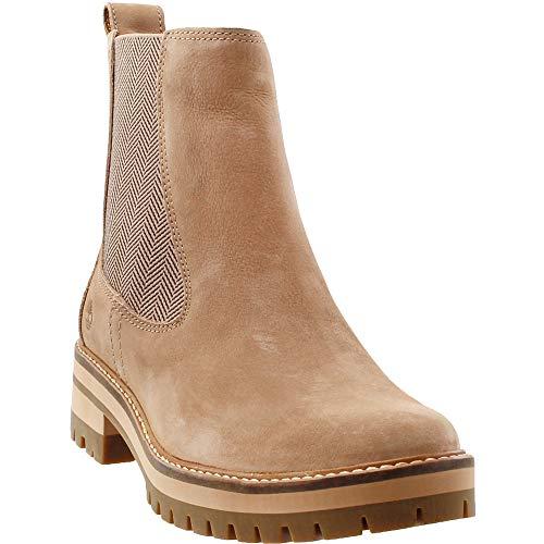 Timberland Courmayeur Valley Chelsea Boot - Women's Medium Beige Nubuck