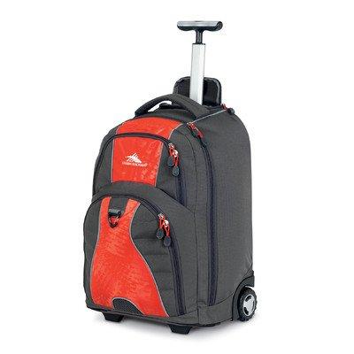 High Sierra Freewheel Wheeled Backpack, Charcoal Red/Orange, One ...
