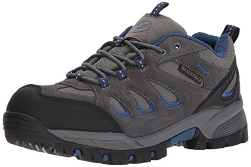 Propet Men's Ridge Walker Low Boot, Grey/Blue, 15 M US (Blue Mens Walker)