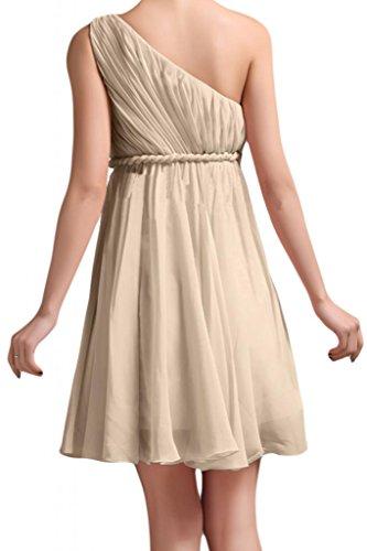 Gorgeous Bridal 2015 Bridesmaid Dresses Elegant One-shoulder Pleated Chiffon- US Size 4