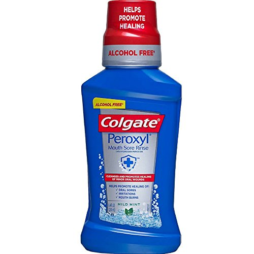 Colgate Peroxyl Antiseptic Oral Cleanser Mild Mint 8 oz (Pack of 8)