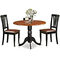 East West Furniture DLAV3-BCH-LC 3 Piece Dining Table and 2 Kitchen Chairs Dublin Set