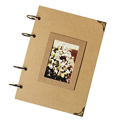 Insho 210 X 290 mm DIY Scrapbook Instax Camera Album Notebook for Fuji Instax Mini /Wide Series Photo,Birthday / Wedding / Family Memoria ,Baby Growing Record -