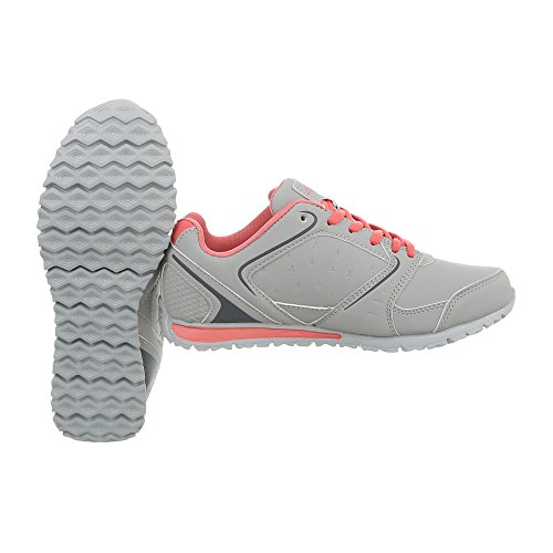 S1385g Mode Ital Espadrilles Chaussures Clair Plat design Femme Low Gris Baskets Sneakers Iq1qP7Bw