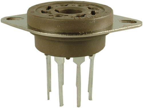 Belton Vacuum Tube Socket (VT8-PT) 8 Pin / Octal, Micalex, PC Mount, Long (Octal Socket)
