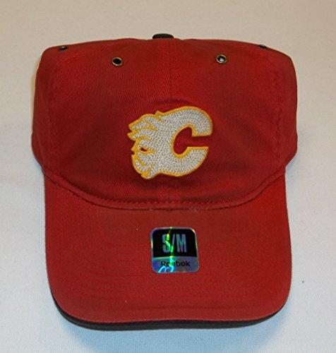 Ccm Vintage Cap (Calgary Flames Flex Slouch Vintage CCM Hat - Size S/M)