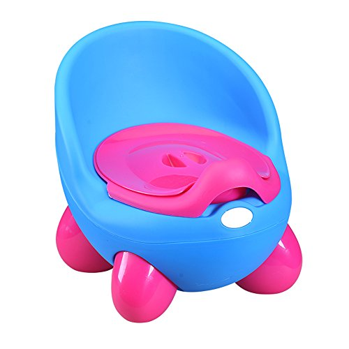 ining Seat Chair Girls Boys Toilet Trainer Plastic Egg Shaped Removable Bathroom Defecate Trainer,Blue (Infant Urine Collector)