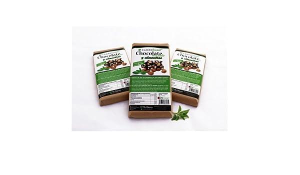 Chocolate con Leche y Almendras ensulzado con Stevia: Amazon.es: Alimentación y bebidas