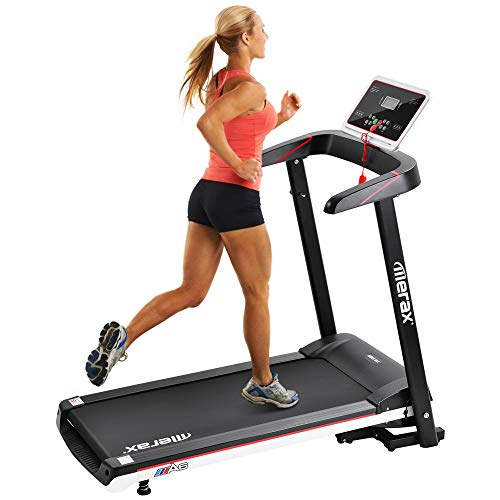 Merax Treadmill Folding Treadmill Electric Portable Power Motorized Running Machine for Home Gym, Treadmill Machine w/ 12 Preset Programs, 8.0MPH Max Speed