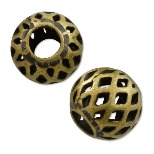 8mm Antique Brass Plated (10-Pcs) ()