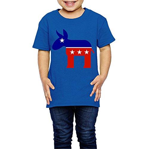 NINJOE 2-6 Years Boys And Girls Vintage Red Star Donkey Tshirt RoyalBlue Size 3 Toddler ()