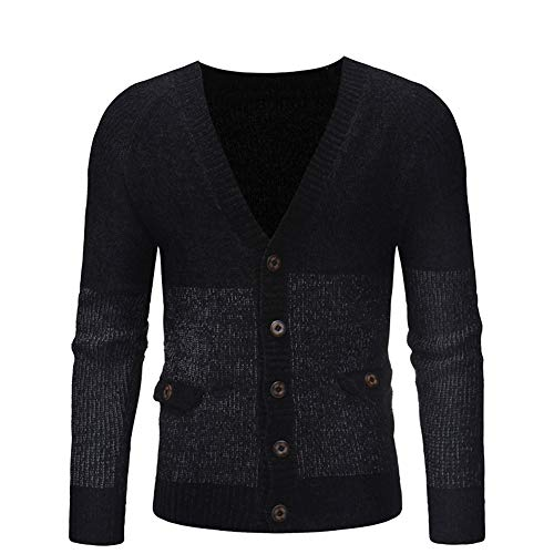 Mens Long Sleeve Autumn Winter Button Casual Sweatshirt Charberry Top Jersey Knit Blouse by Charberry