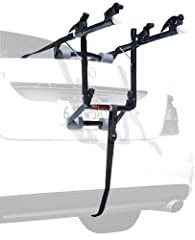 No roof rack, no problem with the 102DN Deluxe Two Bike Carrier from Allen Sports USA This simple, sturdy bike carrying system fits most sedans, hatchbacks, minivans, and SUVs via a single configuration design that eliminates setup hassles an...