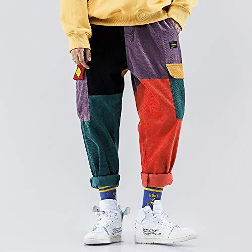 Aelfric Eden Woens Casual Cargo Pants Colorful Harem Joggers Harajuku Sweatpants Hip Hop Streetwear Trousers