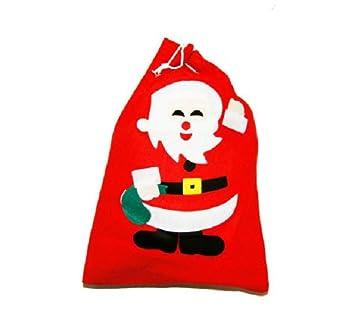 Amazon.com: Navidad Santa Claus saco bolsa de regalo grande ...