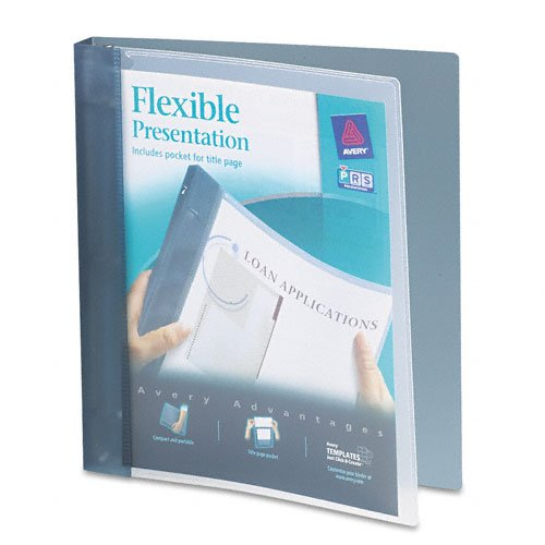 Avery : Flexible Round Ring Presentation Binder, 1in Capacity, Gray -:- Sold as 2 Packs of - 1 - / - Total of 2 Each