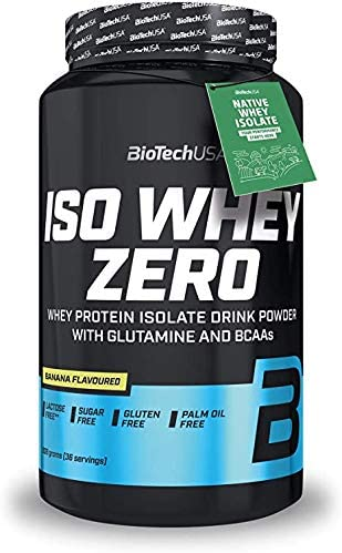 BioTech IsoWhey Zero Proteínas de Suero de Leche, Sabor Plátano - 908 gr