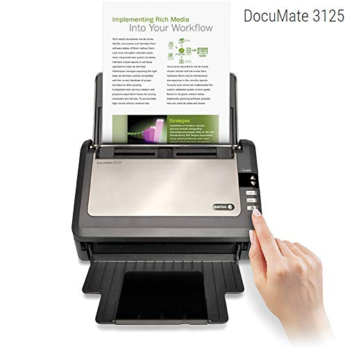 Xerox DocuMate 3125 Duplex Scanner with Document Feeder for PC and Mac ()