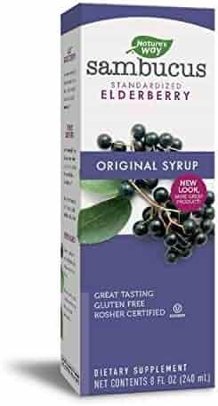 Nature's Way Original Sambucus Elderberry Syrup, Herbal Supplements, Gluten Free, Vegetarian, 8 Ounce (Packaging May Vary)