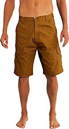Norty Mens Premium Cargo Shorts - 100% Cotton Twill or Ripstop ...