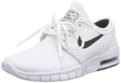 Nike Unisex-Erwachsene Stefan Janoski Max L Low-Top Weiß (100 WHITE/BLACK)