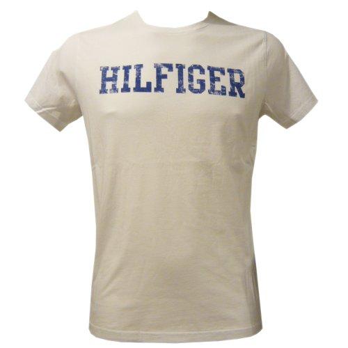 Tommy Hilfiger Greenwood CN - Camiseta con cuello redondo de manga corta para hombre Gow Blanco