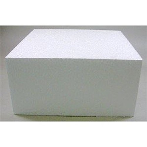 Oasis Supply 747196 Dummy Square Cake, 16'' x 16'' x 5'', White