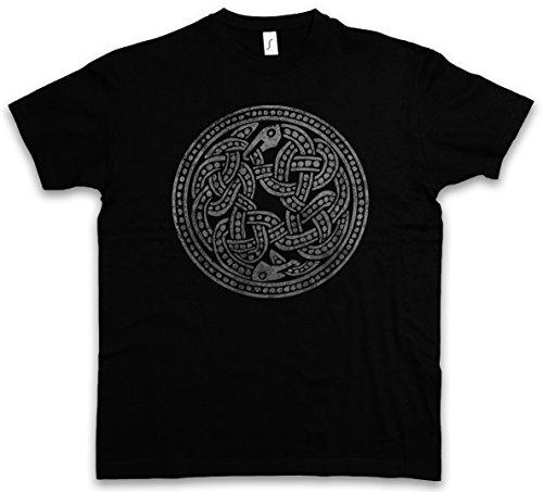 NORSE SNAKES T-SHIRT - Walhall Walhalla Ravens Odin Thor Mjölnir Loki Midgard Wikinger Kelten Rune Größen S