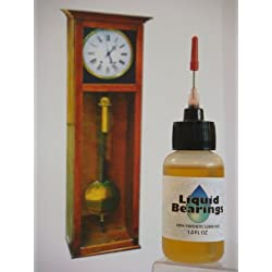"""Liquid Bearings with Extra-Long 3 """" needle tip, the superior 100%-synthetic oil for Grandfather clocks or any clocks, frees sticky or rusty mechanisms, never becomes gummy, the BEST for clocks of all types!"""