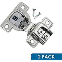 "2 Pack Salice 106 Degree Silentia 1-3/8"" Overlay Screw On Soft Close Cabinet Hinge With 3 Cam Adjustment CUP3CD9R"