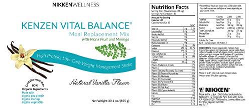 Nikken Kenzen Vital Balance® Meal Replacement Mix 30 oz - Vanilla Flavor by Nikken (Image #1)