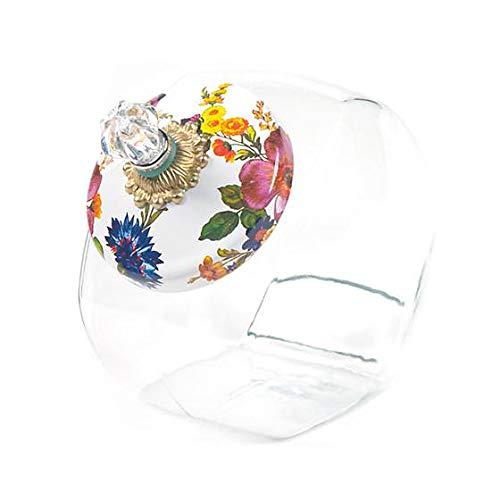MacKenzie-Childs Cookie Jar With Flower Market Enamel Lid - White 6