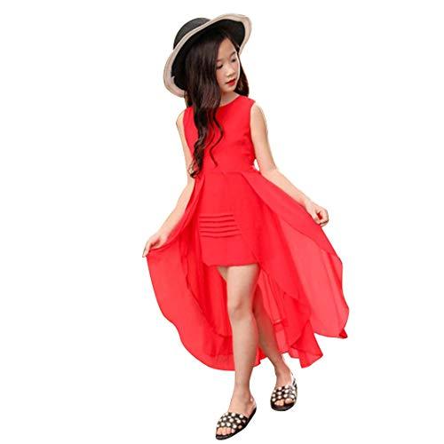 Girl Dress Cute Sleeveless Chiffon Summer Kids Dresses