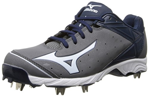 Mizuno Usa Mens Men-s 9-Spike ADV Swagger Baseball Cleat,Grey/Navy,10 D US