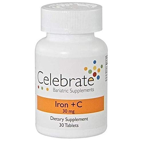Celebrate Vitamins - Iron + Vitamin C - 30mg - 30 Capsules