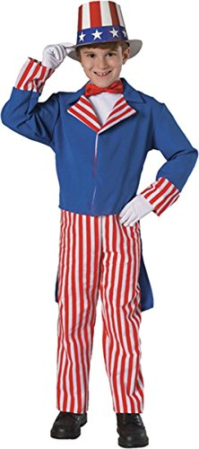 [Rubie's Costume Deluxe Uncle Sam Child's Costume, One Color, Small] (Uncle Sam Halloween Costumes)