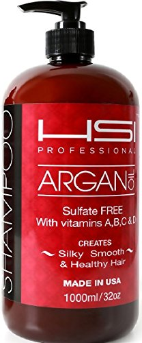 HSI professional sulfate-free argan oil smoothing shampoo, 3