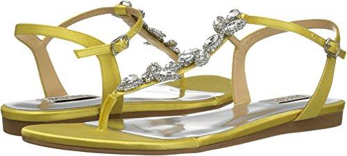 Badgley Mischka Women's Sissi Flat Sandal, Lemon, 6 M US