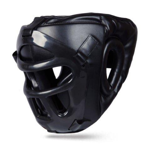 BOOM Pro piel boxeo protector de cabeza con máscara extraíble Kick Boxing MMA UFC artes marciales casco (pequeño) BOOM Prime