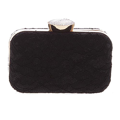 Wedding Bags Clutch Lace Handbags Evening Vintage Purse Party EPLAZA Black Women Bridal wzq1TTg