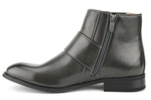 Mens Dress Gray Majestic 76355 Belt Monkstrap Boots High Ankle Casual 1xxqwd7C