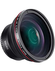 Neewer 55MM 0.43x Professional HD Wide Angle Lens (Macro Portion) for Nikon D3400, D5600 and Sony Alpha Cameras