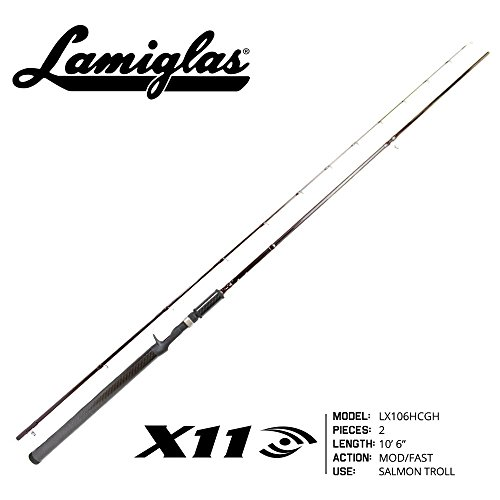 Lamiglas LX106HCGH X-11 Castingsalmon Troll Rod W/Graphite Handle (Rod Salmon Lamiglas)