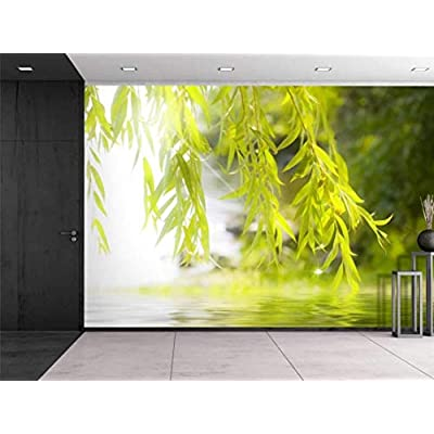 Tree Framing a Serene Lake - Wall Mural, Removable Sticker, Home Decor - 66x96 inches