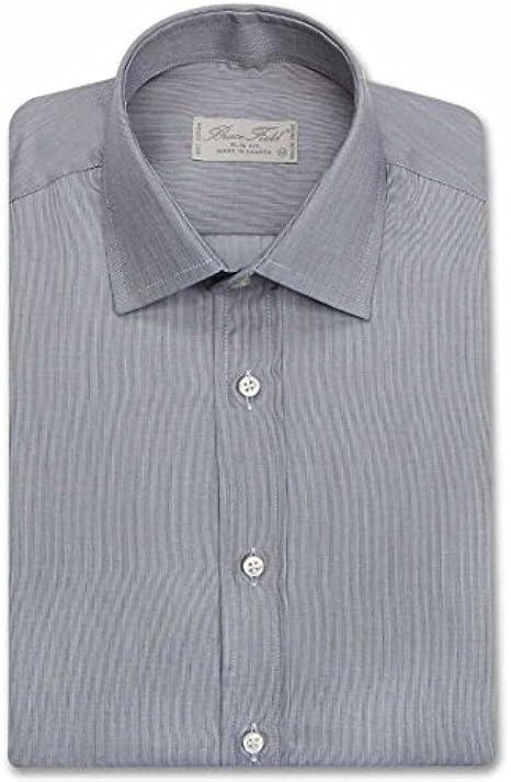 Bruce Field-Camisa para hombre modelo 2821 entallado. imitación gris L: Amazon.es: Ropa y accesorios