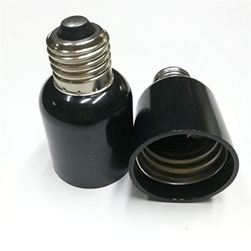 Halica E27 E40 Lamp Holder Converter E27 TO E40 Light Base Socket Black 100PCS