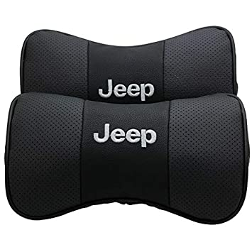 Auto Sport 2 PCS Genuine Leather Bone-Shaped Car Seat Pillow Neck Rest Headrest Comfortable Cushion Pad fit acura