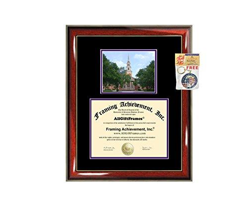 Texas Christian University Diploma Frame TCU Graduation College Degree Campus Photo Double Mat Document Holder Certificate Plaque Graduate Gift by Framing Achievement Inc University Diploma Frame