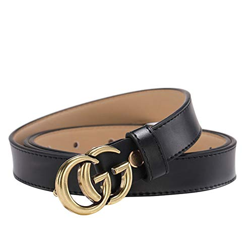 Luxury Leather Belt Women Waist Belt for Pants Jeans Dresses Black 115 By HANBAOBAO