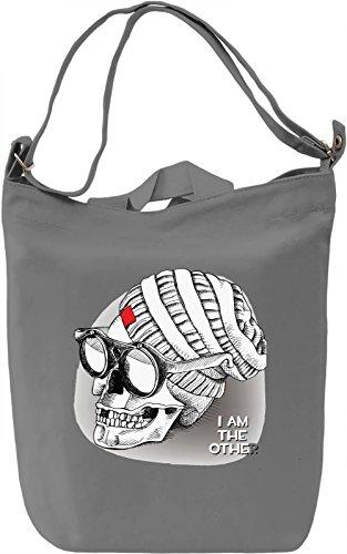 Hippie Skull Borsa Giornaliera Canvas Canvas Day Bag| 100% Premium Cotton Canvas| DTG Printing|
